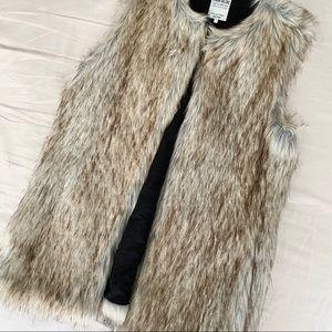Beige Fur Vest